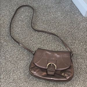 Coach copper crossbody—excellent used condition